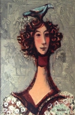 Woman with Bird 1970