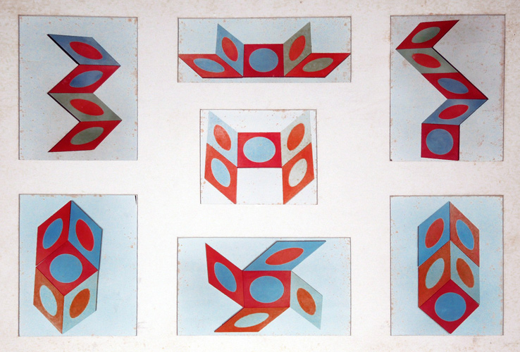 Quintuplet (5-Piece Painting) 1968 60x60 by Roy Ahlgren