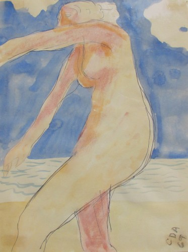 Untitled Nude Watercolor 1969