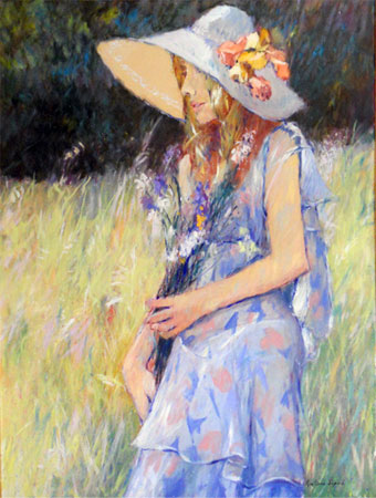 Untitled Young Girl With Hat 1970