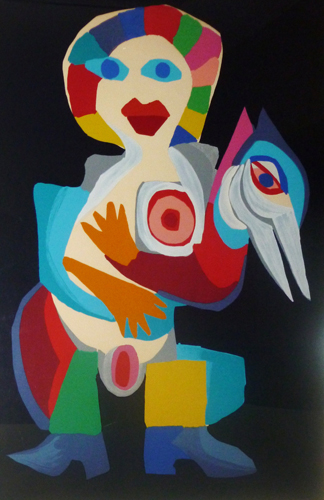 Woman with Bird 1975