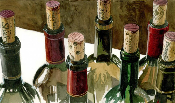 A Few of My Favorite Things Watercolor 2011 by Thomas Arvid