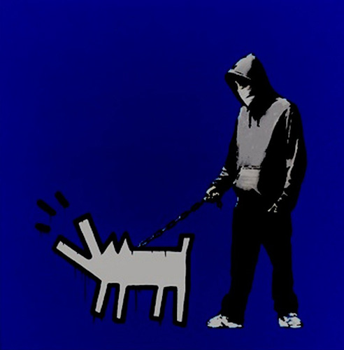 Choose Your Weapon (Dark Blue) AP 2010 by  Banksy