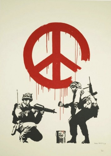 CND Soldiers 2004  by  Banksy
