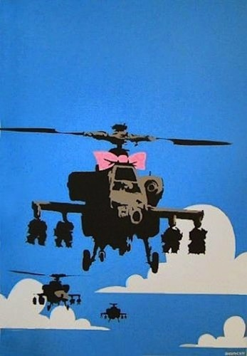 Happy Chopper 2009 by  Banksy