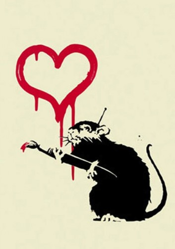 Love Rat 2004 by  Banksy