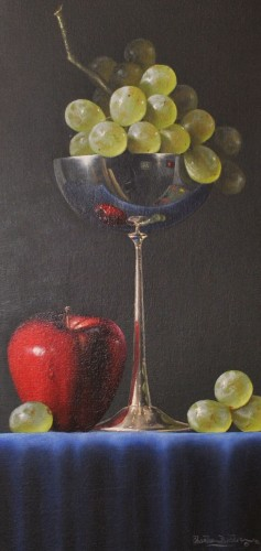 Silver Goblet With Green Grapes 1996
