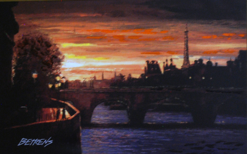 Evening in Paris, Suite of 3 Giclees