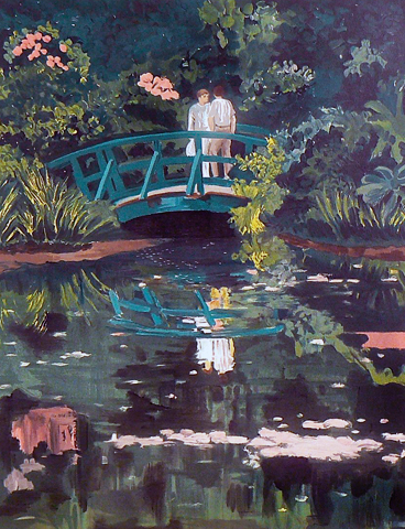 Lovers in Monet