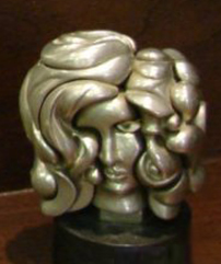 Portrait De Michele Bronze Sculpture