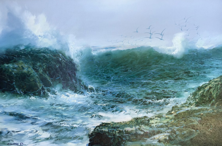 Baja Coastline, Untitled 1981 31x43 by Juan Angel Castillo Bertho