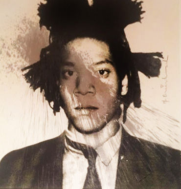 Basquiat Self-Portrait for Frank Sintara 2013  Unique by Mr. Brainwash