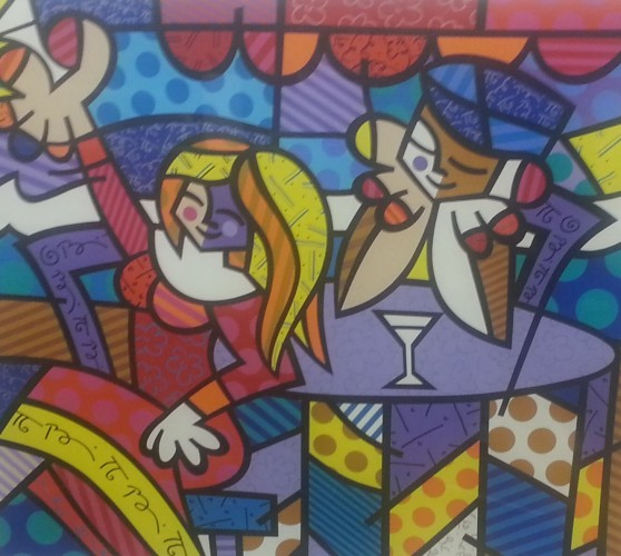 Doing Lunch 1997 AP by Romero Britto