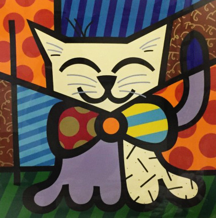 L.A. Cat 1995 by Romero Britto