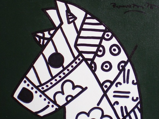 Young Horse 2002 by Romero Britto