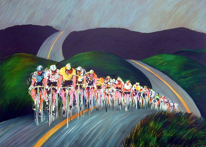Tour de France Through the Hills