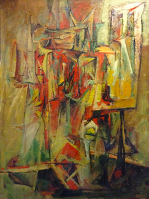 Self Portrait With Easel 1952
