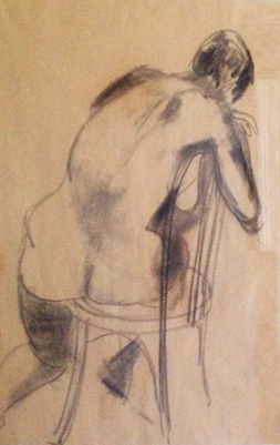 Nude Sketch Drawing