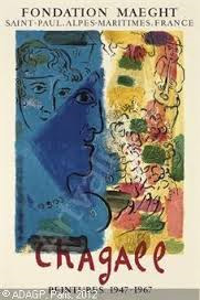 Leprofil Bleu Poster 1967 by Marc Chagall