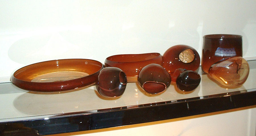 9 Piece Nesting Glass Bowl Set 1980