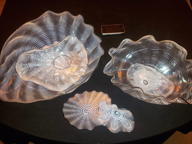 Seaform Set of 8 Pieces, Glass  Sculpture 1987