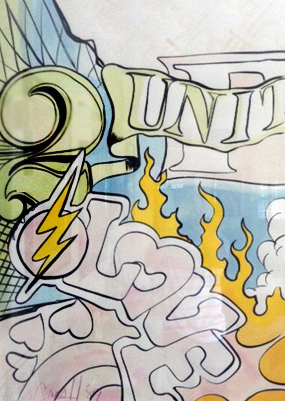 United 2 Love Watercolor 1989