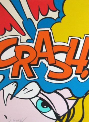 Crash Orange 1989 by  Crash (John Matos)