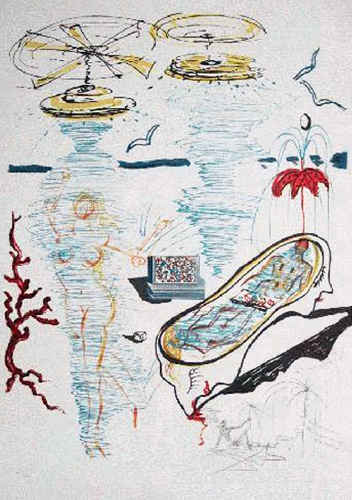 Liquid Tornado Bath Tub 1975 by Salvador Dali