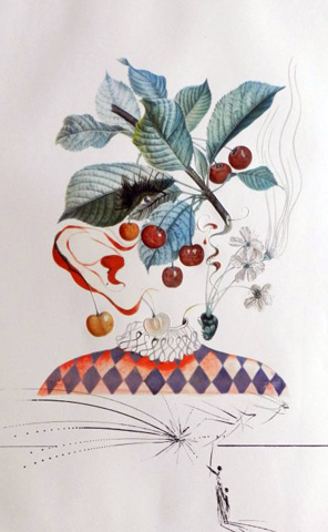 Flordali / Les Fruits Cherries 1969 by Salvador Dali