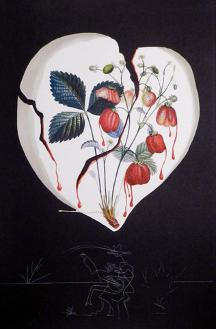 Fruits  Strawberries 1970 by Salvador Dali