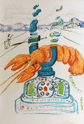 Objects and Imaginations of the Future Cybernetic Lobster Telephone 1975 by Salvador Dali
