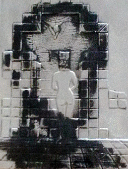 Lincoln in Dali Vision Silver Bas Relief Sculpture 1975 by Salvador Dali