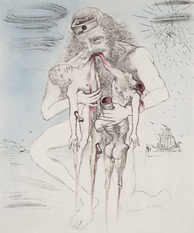 Kronos (La Mythologie) 1965 by Salvador Dali