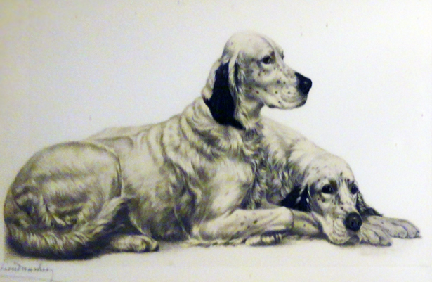 Untitled Dog lithograph