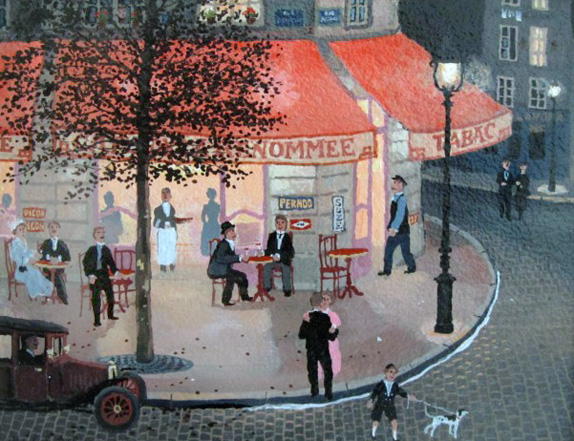 Cafe De La Renommee 2004 by Michel Delacroix