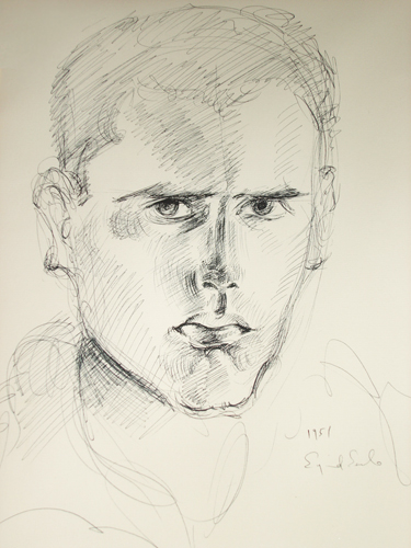 Self-Portrait Drawing  1951