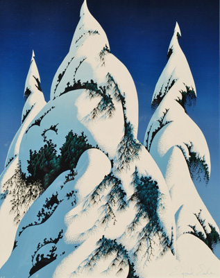 Snow Trees 1986 by Eyvind Earle