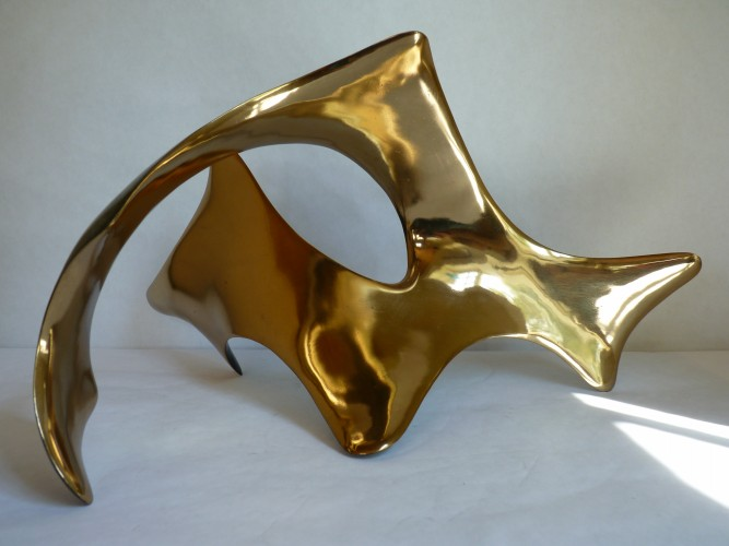Abstract Arch Bronze Sculpture