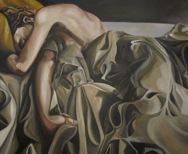 Woman Sleeping in Sheets