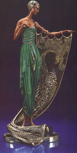 Emerald Night Bronze Sculpture 1990