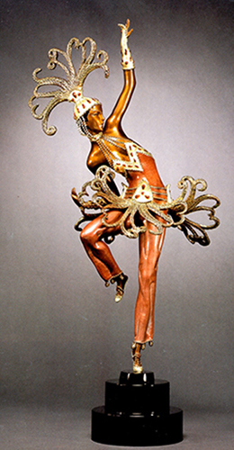 Fire Dancer Bronze Sculpture 1989