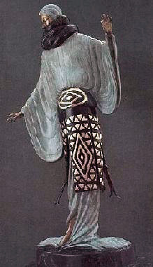 Evening Bronze Sculpture 1921 by  Erte