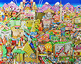 Welcome to Fabulous Las Vegas 3-D 1999 by Charles Fazzino
