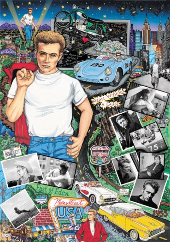 Forever James Dean 3-D by Charles Fazzino