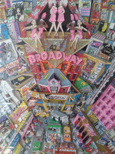 Broadway And Beyond 3-D 2000 44x34 by Charles Fazzino