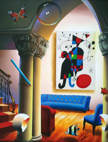 Untitled interior with Miro Painting