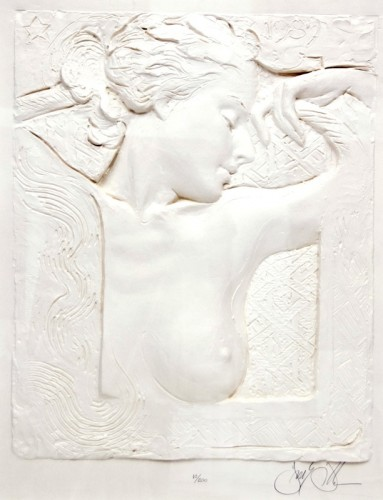 Bust of Young Woman Cast Paper 1989