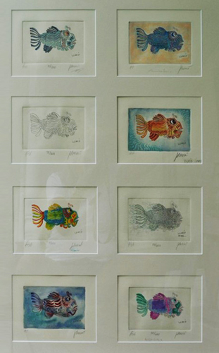 Fish Little Jerry (8 Prints in 1 Frame)