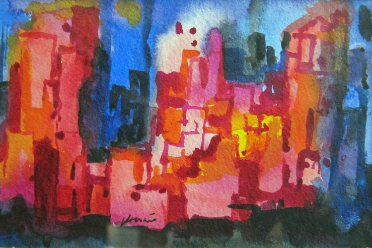 Album cover: So What: New York At Night Watercolor