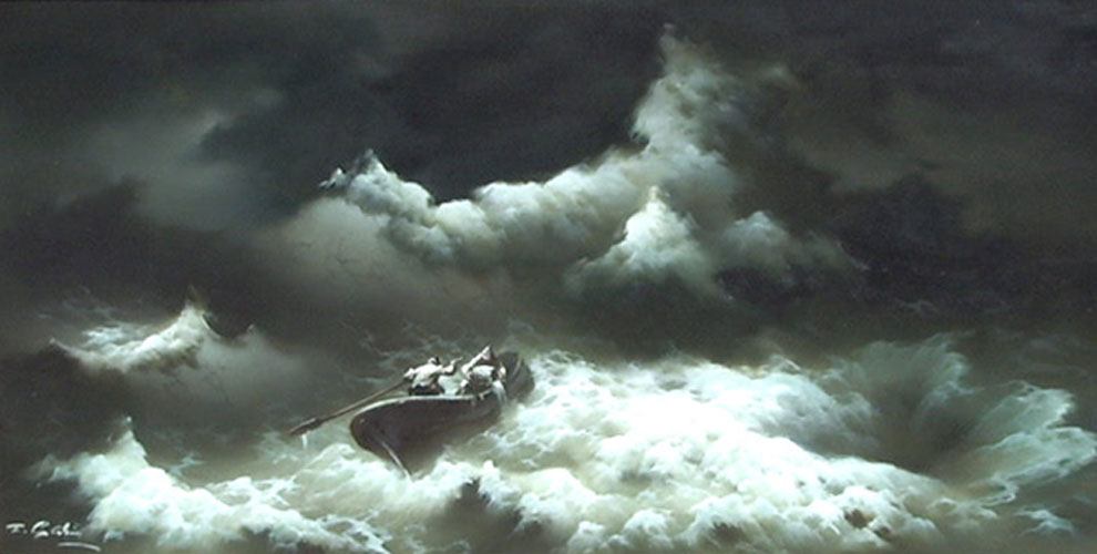 Untitled Seascape with Rowboat 1976
